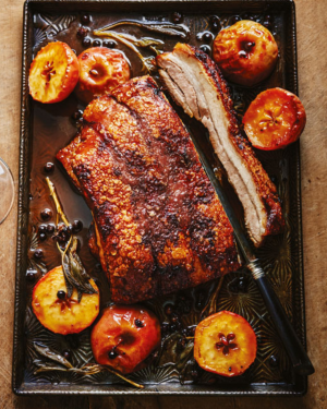 Featured Food and wine pairing - Pork and Santolin Pinot Noir